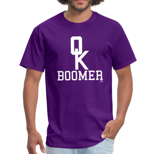 OK BOOMER Unisex Shirt - purple