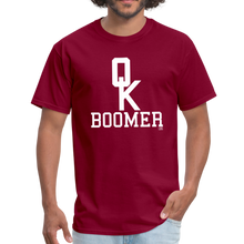 Load image into Gallery viewer, OK BOOMER Unisex Shirt - burgundy