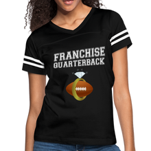 Load image into Gallery viewer, Franchise Quarterback customize jersey gift for engaged or married wife - black/white