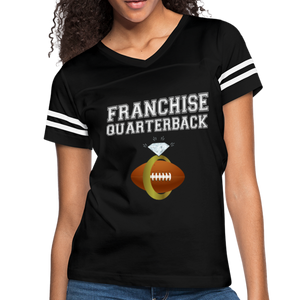 Franchise Quarterback customize jersey gift for engaged or married wife - black/white