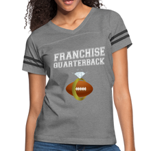 Load image into Gallery viewer, Franchise Quarterback customize jersey gift for engaged or married wife - heather gray/charcoal