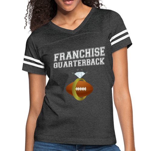 Franchise Quarterback customize jersey gift for engaged or married wife - vintage smoke/white