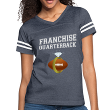 Load image into Gallery viewer, Franchise Quarterback customize jersey gift for engaged or married wife - vintage navy/white