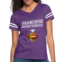 Load image into Gallery viewer, Franchise Quarterback customize jersey gift for engaged or married wife - vintage purple/white