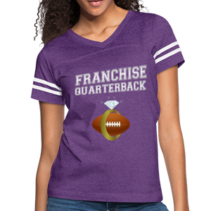 Franchise Quarterback customize jersey gift for engaged or married wife - vintage purple/white