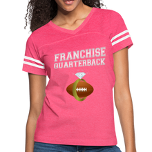 Load image into Gallery viewer, Franchise Quarterback customize jersey gift for engaged or married wife - vintage pink/white