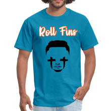Load image into Gallery viewer, Roll Fins Unisex Classic T-Shirt - turquoise