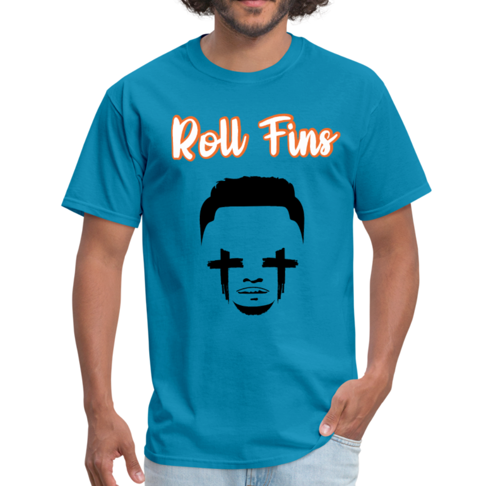 Roll Fins Unisex Classic T-Shirt - turquoise