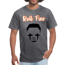 Load image into Gallery viewer, Roll Fins Unisex Classic T-Shirt - mineral charcoal gray