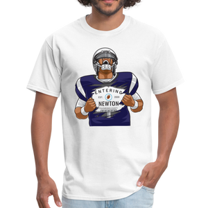 Cam Entering Newton Patriots Mass shirt - white