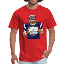 Load image into Gallery viewer, Cam Entering Newton Patriots Mass shirt - red