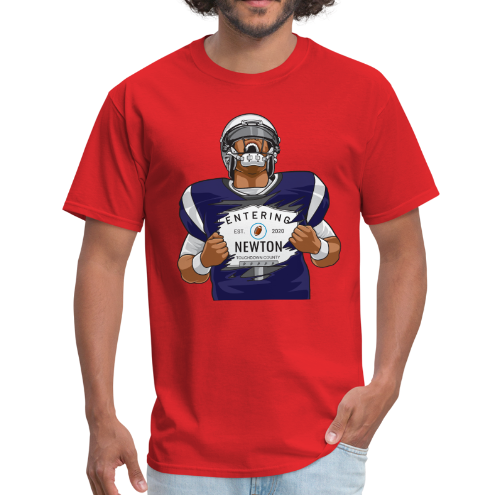 Cam Entering Newton Patriots Mass shirt - red