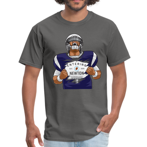 Cam Entering Newton Patriots Mass shirt - charcoal
