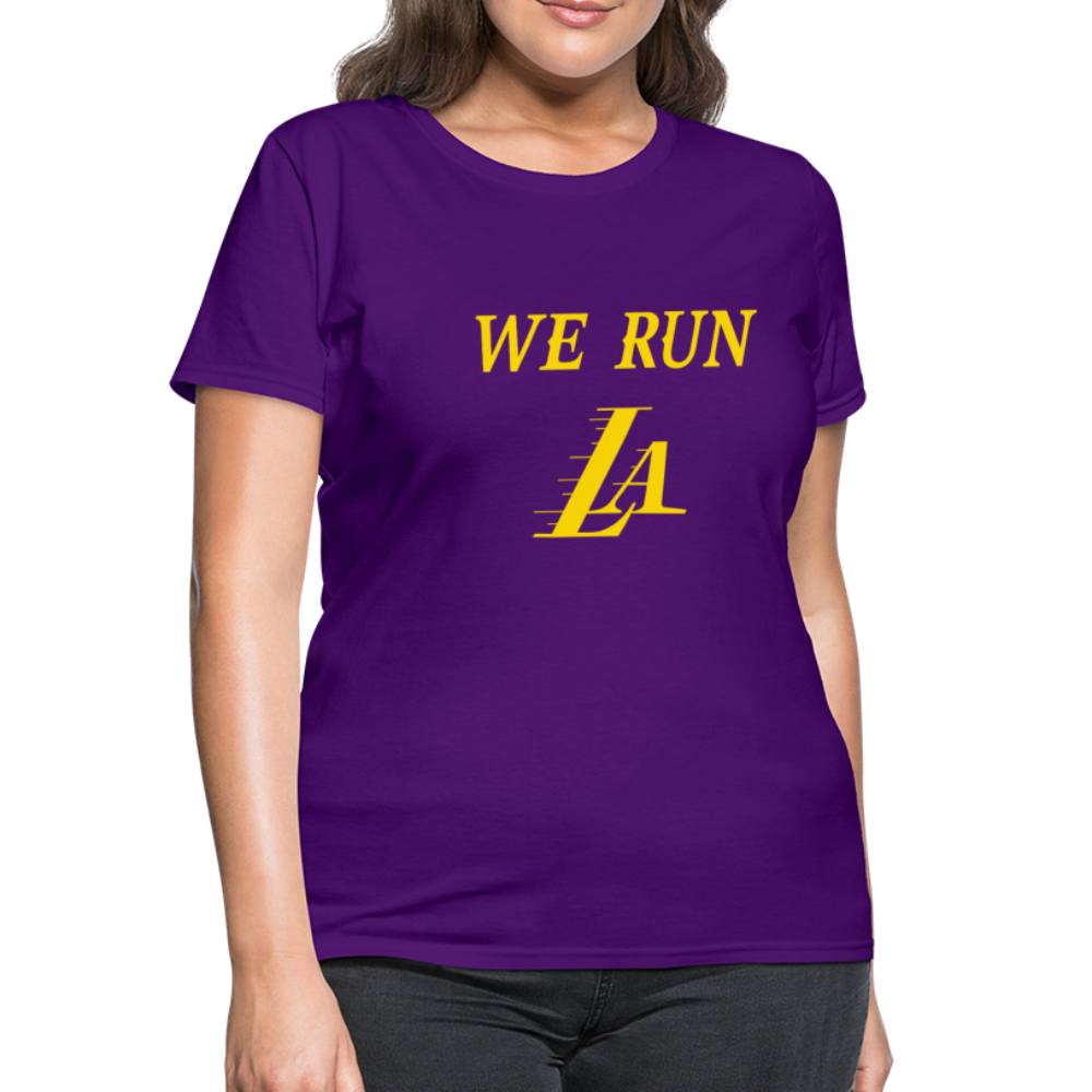 We Run LA Lakers women's shirt - purple