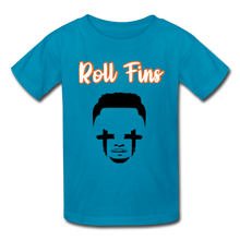 Load image into Gallery viewer, Roll Fins Kids Youth Shirt - turquoise