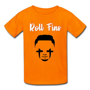 Roll Fins Kids Youth Shirt - orange