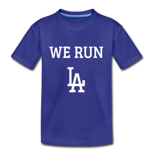 We Run LA Dodgers Kids' Premium T-Shirt - royal blue