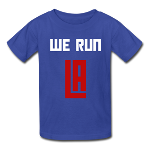 We Run LA Basketball Blue Kids' T-Shirt - royal blue