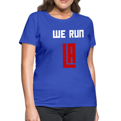 We Run LA Basketball Blue Women's T-Shirt - royal blue