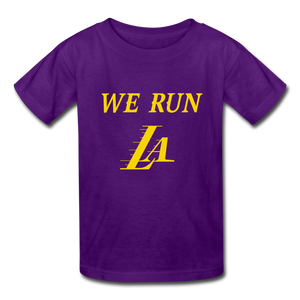We Run LA Basketball Purple Kids' T-Shirt - purple
