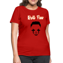 Load image into Gallery viewer, Roll Fins Women's T-Shirt - red