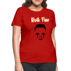 Roll Fins Women's T-Shirt - red