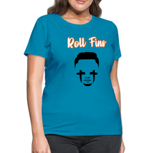 Load image into Gallery viewer, Roll Fins Women's T-Shirt - turquoise