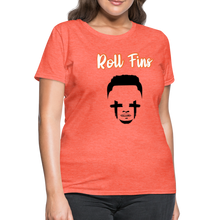 Load image into Gallery viewer, Roll Fins Women's T-Shirt - heather coral