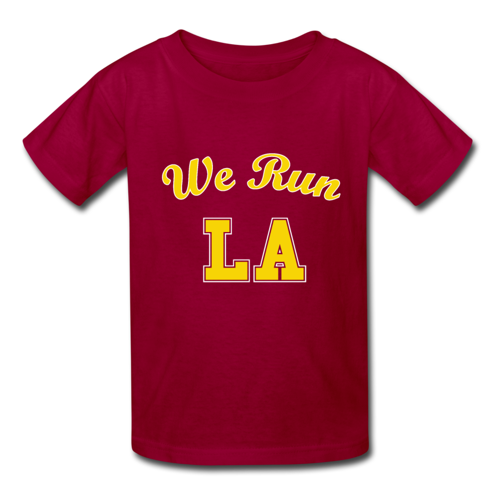 We Run LA College Red Kids' T-Shirt - dark red