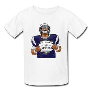 Cam Newton Entering Mass Patriots Kids' T-Shirt - white