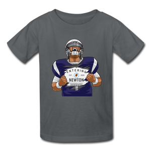 Cam Newton Entering Mass Patriots Kids' T-Shirt - charcoal