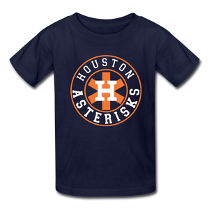 Houston Asterisks cheaters Kids' T-Shirt - navy