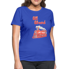 Load image into Gallery viewer, Lane Train Ole Miss All Aboard Women's T-Shirt - royal blue