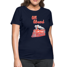 Load image into Gallery viewer, Lane Train Ole Miss All Aboard Women's T-Shirt - navy
