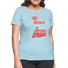 Load image into Gallery viewer, Lane Train Ole Miss All Aboard Women's T-Shirt - powder blue