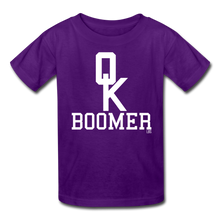 Load image into Gallery viewer, OK Boomer Kids' T-Shirt - purple