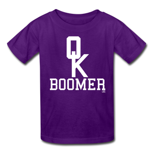 OK Boomer Kids' T-Shirt - purple