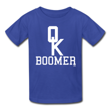 Load image into Gallery viewer, OK Boomer Kids' T-Shirt - royal blue