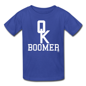 OK Boomer Kids' T-Shirt - royal blue