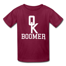 Load image into Gallery viewer, OK Boomer Kids' T-Shirt - burgundy