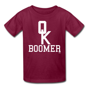 OK Boomer Kids' T-Shirt - burgundy