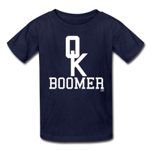 Load image into Gallery viewer, OK Boomer Kids' T-Shirt - navy