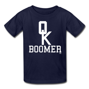 OK Boomer Kids' T-Shirt - navy