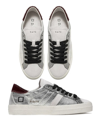 D.A.T.E. Hill Low Sneakers Laminated Silver £160