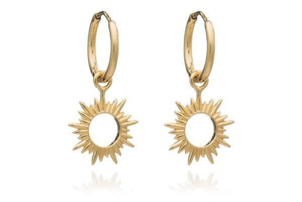 Rachel Jackson London Eternal Sun Mini Hoop Earrings - Gold £55.00