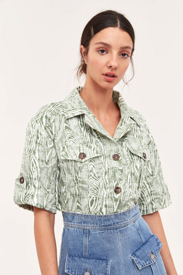 C/MEO Collective Energised Shirt in Ivy Woodgrain
