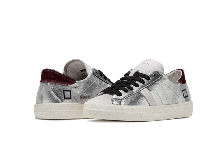 D.A.T.E. Hill Low Sneakers Laminated Silver