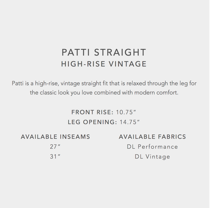 DL1961 Patti Straight High Rise Jeans in Reef