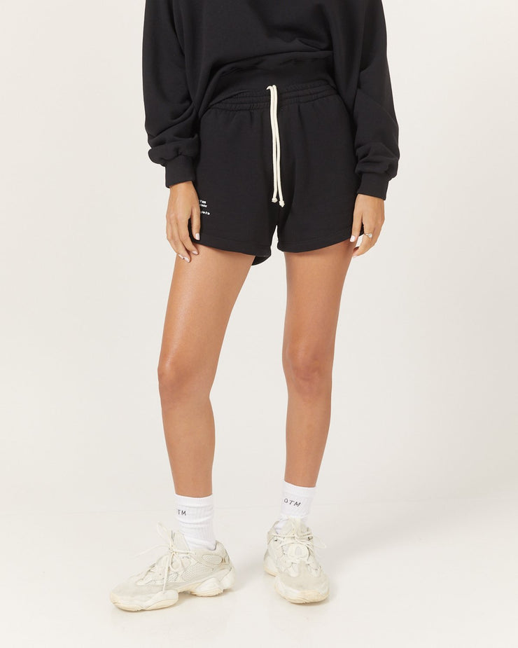 Don't Tell Mama Tennis Shorts in Black