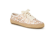 EMU Agonis Espadrille Canvas Sneaker in White Leopard